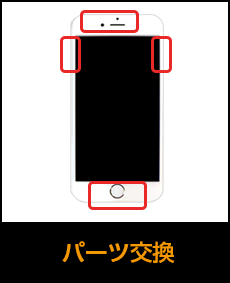 アイフォン各種パーツ交換修理